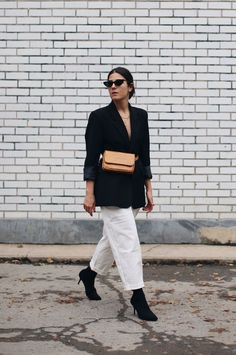 How to style monochrome fall layering