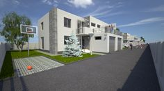 Simulare a complexului rezidential Silver Tree Residence, oras Bragadiru. 3d Design, Mansions, House Styles, Silver, Home Decor, Decoration Home, Money, Room Decor, Fancy Houses
