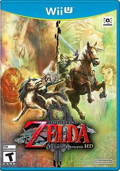 The Legend of Zelda: Twilight Princess HD - Wii U. A dark force, shrouded in twilight, has invaded the vast land of Hyrule. To restore light to the world, team up with the mysterious creature Midna and embrace the darkness to transform into a divine wolf. The Legend Of Zelda, Nintendo Wii U Games, Wii Games, Gamecube Games, Playstation Games, Super Nintendo, Zelda Twilight Princess, Nintendo Eshop, Mode Shop