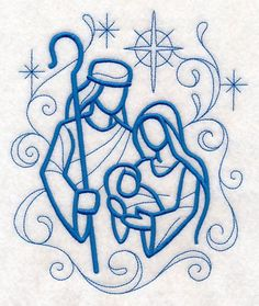 Nativity Towel - Christmas Towel - Holy Family - Embroidered Towel - Flour Sack Towel - Hand Towel - Bath Towel - Apron - Fingertip Towel by on Etsy Christmas Drawing, Christmas Paintings, Christmas Art, Christmas Nativity, Learn Embroidery, Hand Embroidery Patterns, Machine Embroidery Designs, Embroidery Needles, Geometric Embroidery