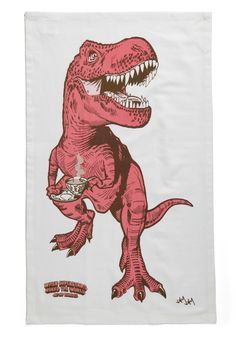 Diner-saurs Tea Towel - I seriously don't know how I have lived my life up until now without these.