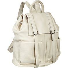 AmeriLeather Chief Backpack - Off White - via eBags.com!