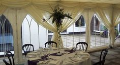 Marquees & interiors for daytime through to night
