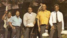 L-R: Johnny Shines, Clifton James, Willie Dixon, Sunnyland Slim, and Big Walter Horton