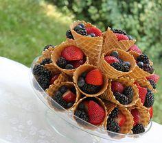 torre de frutas na casquinha!