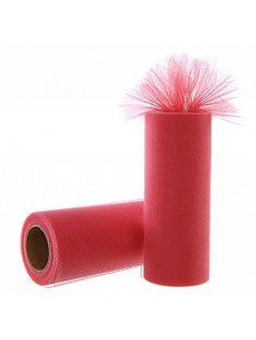 Bobine de tulle en couleur de corail  - EUR 1.46€