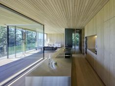 Completed in 2016 in Bregenz, Austria. Images by Bruno Klomfar . Located on a mountain overlooking Bregenz, Haus D′s open floorplans and generous glazing allow for magnificent views over the surrounding countryside. Built In Cupboards, Architect House, Open Plan Living, Interior Architecture, Interior Design, Beautiful Homes, Kitchen Design, House Plans, New Homes