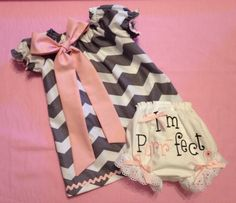 Infants/Toddlers/Girls Easter Chevron Peasant by DitsyDaisyDoo, $45.00