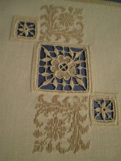 Aemilia Ars needle lace, from a first course sampler by Daniella Lab, Bolsena. Taught by Patricia Girolami