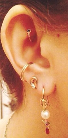 ear party. pamela love. #piercings #earpiercings