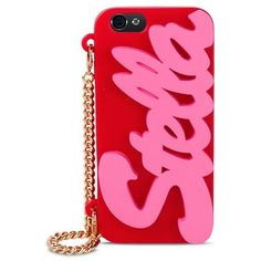 Stella McCartney Pink And Red Logo Iphone 6 Cover (£84) ❤ liked on Polyvore featuring accessories, tech accessories and stella mccartney