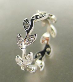 Platinum Engagement ring  Wedding band by ValerieKStudio on Etsy, $950.00