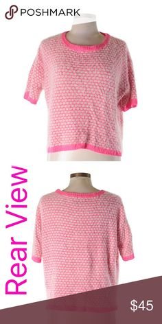 """ASOS Fuzzy Polka Dot Sweater Soft and cuddly!! Pink and white polka dot cropped sweater from ASOS.  50% nylon 50% acrylic.  Chest measures 50"""" around.  Length 21"""".  Flattering scoop neck. ASOS Sweaters"""