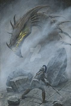 Glaurung JPEG by KipRasmussen on DeviantArt Turin Faces Glaurung at the Ruin of Nargothrond