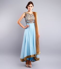 Mild high-low with hem emphasis, would transition bodice embellishment onto hip Anarkali Dress Pattern, Dress Patterns, Asian Clothes, Desi Clothes, Ethnic Outfits, Indian Outfits, Indian Fashion, Women's Fashion, Salwar Designs