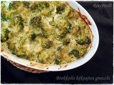 Receptelő: Brokkolis kéksajtos gnocchi