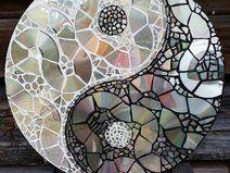 Mosaic CD Collage yin and yang disc