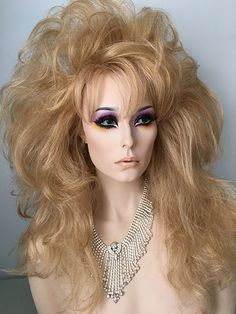 Strawberry Blonde, Drag Queen Wig, highlighted, glamour, crossdresser
