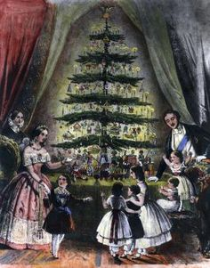 How Most of Our Christmas Traditions Began In the 1800s: Christmas Tree at Windsor Castle, December 1848