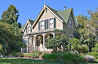 The Inn on Randolph (circa 1860s) is at 411 Randolph Street in Napa CA. This Gothic Revival home, built on a half-acre lot for Hannah Moore in the 1860s, remained in her family for over 90 years. In the 1930s the family added three small cottages of a similar architecture to the property. These are now part of the Inn's ten accommodations. The Moore family must have also planted the 100-plus year old fig and persimmon trees, which are still producing plenty of fruit.