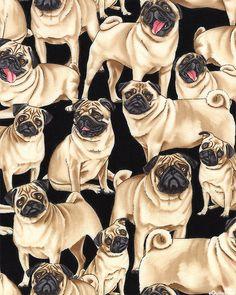 ...Just Pugs - Black