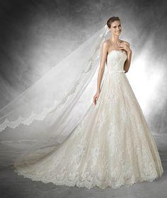 Wishesbridal Sleeveless Sweetheart Court Train #Lace A Line #WeddingDress Apr0206