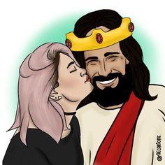 Jesus Eu nunca olhei pra alguém como eu olho pra Ti ! O Amor que sinto por você não se compara a nada ! Você me cativou como ninguém jamais fez ! Tens meu coração e toda minha afeição ! Eu te Amo. . De Pam para Jesus.