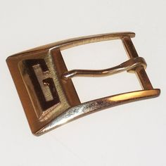 Vintage Brass Buckle Initial G Monogram 1930s PARIS by SwaggerMan, $19.00
