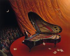 """Moonlight Sonata"" by Vladimir Kush - Surrealismo / Surrealism"
