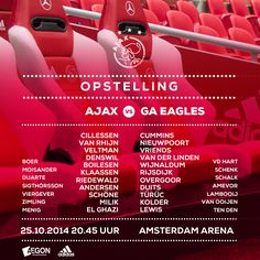 Line-ups #Ajax - Go Ahead Eagles. Nicolai Boilesen is captain.
