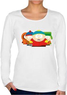 South Park Çete Kendin Tasarla - Bayan U Yaka Tişört - Uzun Kollu