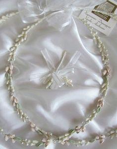 Greek Wedding Shop - Pink Flowers and Greek Leaf Wedding Crowns with Diamante Detail, $190.00 (http://www.greekweddingshop.com/pink-flowers-and-greek-leaf-wedding-crowns-with-diamante-detail/)