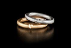 Saarikorpi Design, HiddenOne set, 18K white and yellow gold, W/VS diamonds