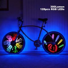 Only US$35.07, buy best 128 RGB LED 18 Patterns DIY Programmable Bicycle Spoke Bike Wheel Light Bicycle Hot Wheels sale online store at wholesale price.US/EU warehouse.