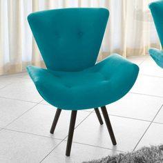Poltrona Decorativa Thais Suede Azul Turquesa American Confort $409
