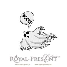 Free Machine Embroidery Design Ghost