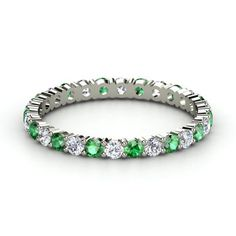"Gemvara fully customizable ""Rich and Thin"" bands. Would love a stack with my birthstone, Scott's, and future littles."