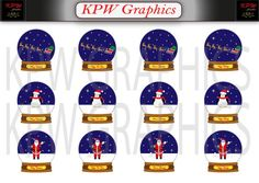 Beautiful Christmas Snow Globes Clipart with 3 different phrases, PNG, Personal & Small Commercial use Christmas Snow Globes, Christmas Cards, Merry Christmas, Dark Blue Background, Santa Sleigh, Snowball, Beautiful Christmas, Happy Holidays, My Design