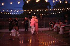 What a great backyard wedding