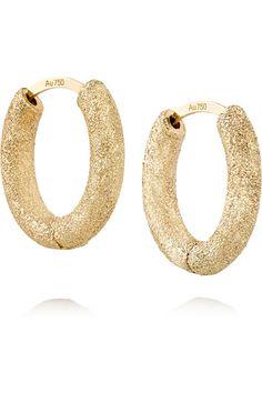 Carolina Bucci   Huggy 18-karat gold hoop earrings   NET-A-PORTER.COM
