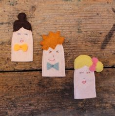 Marionnettes à doigts {tuto} - How to create finger puppets