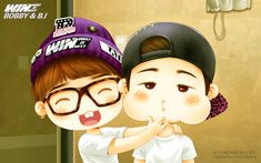YG Bobby and BI deskstop wallpaper 01 by candystar2008