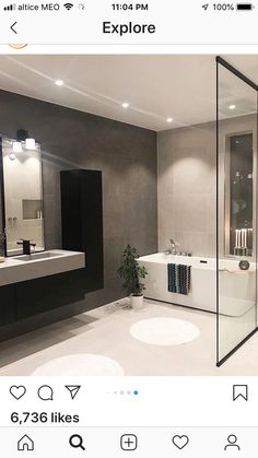 French Bathroom, White Bathroom Decor, Master Bedroom Bathroom, Modern Farmhouse Bathroom, Bathroom Interior Design, Small Bathroom, Grey Bathrooms, Rectangular Chandelier, Interior Design Business