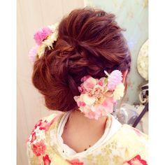 #hairmake #前撮りヘア #和装ヘア #ブライダル #花嫁 #ヘアアレンジ #ヘアセット #編み込み #ウェーブ #hair #wedding #kimono