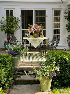 Make the most out of a petite patio with these creative, space-stretching tips and design ideas.