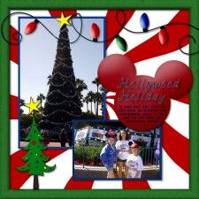Hollywood Studios Christmas - MouseScrappers - Disney Scrapbooking Gallery