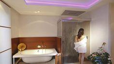 Badarchitektur als Ruhepol im Bonner Villenviertel Design by Torsten Mue. Villa, Spa, Corner Bathtub, Designer, Bathroom, Lifestyle, Amazing, Youtube, Luxury Bathrooms