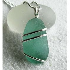 Easy wire wrapping design for a piece of sea glass.