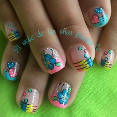 Cute Simple Nails, Barbie, Cute Nail Art, Acrylic Nail Art, Love Nails, Some Pictures, Nail Tips, You Nailed It, Hair And Nails