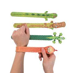 Reptile Slap Bracelets - OrientalTrading.com